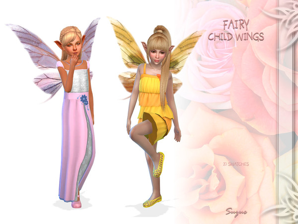 Sims 4 Fairy Child Wings by Suzue at TSR