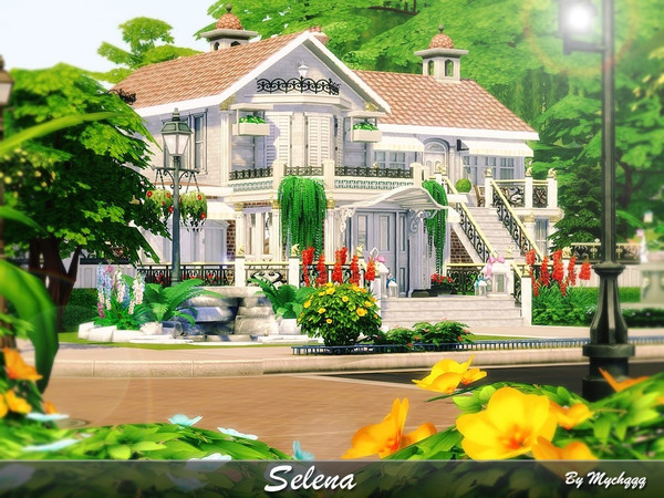 Sims 4 Selena house by MychQQQ at TSR