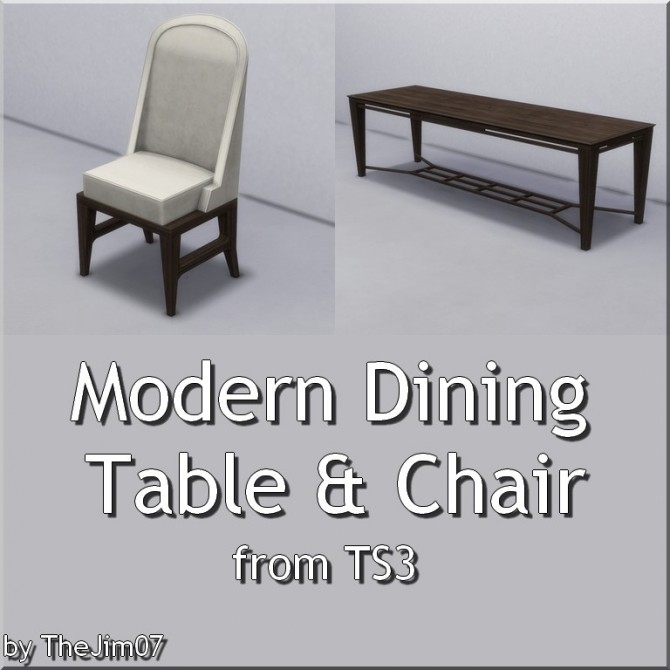 Modern Dining Table & Chair by TheJim07 at Mod The Sims image 4819 670x670 Sims 4 Updates