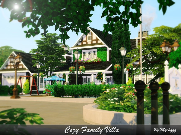 Cozy Family Villa by MychQQQ at TSR image 487 Sims 4 Updates