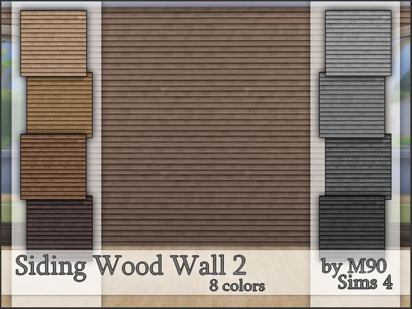 M90 Siding Wood Wall 2 by Mircia90 at TSR image 5 Sims 4 Updates