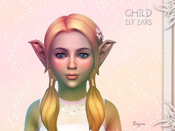 Child Elf Ears by Suzue at TSR image 504 Sims 4 Updates
