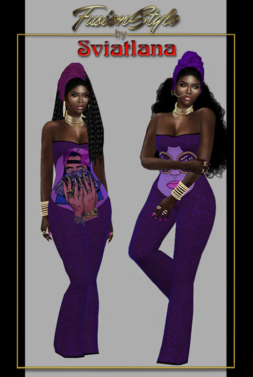 Sims 4 Fashionable jumpsuit A t at FusionStyle by Sviatlana