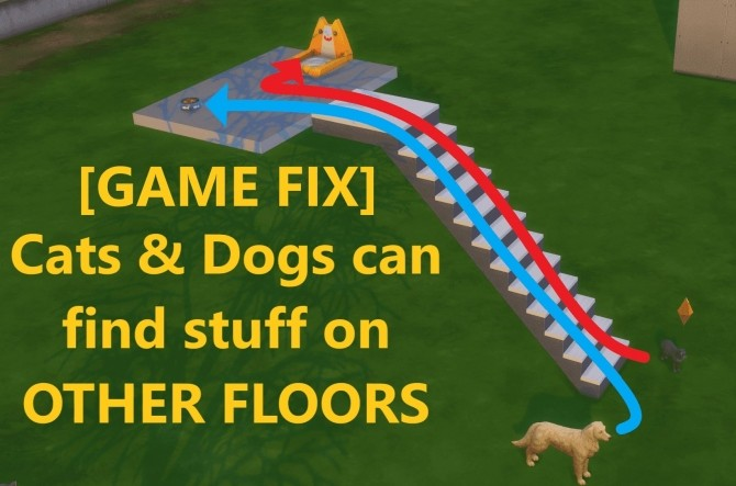 Pets can find Pet Stuff on other Floors by Deathcofi at Mod The Sims image 5211 670x443 Sims 4 Updates