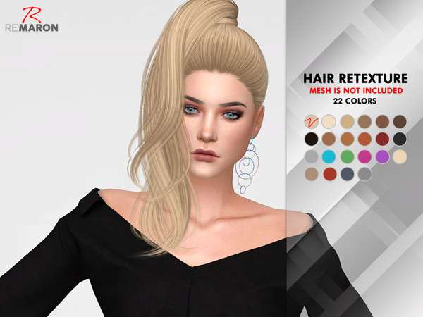Divine Hair Retexture by remaron at TSR image 529 Sims 4 Updates