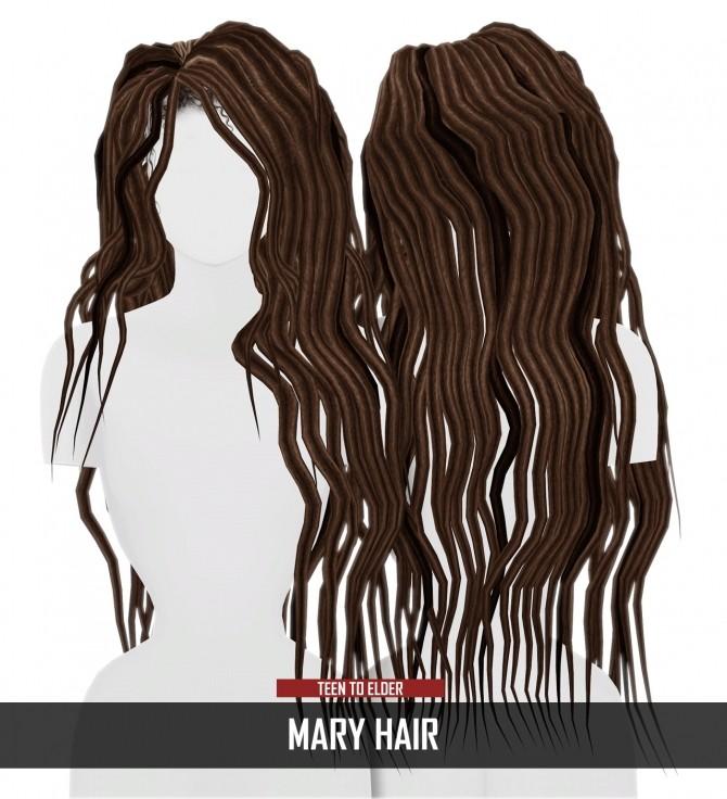 Sims 4 MARY HAIR Thiago Mitchell at REDHEADSIMS