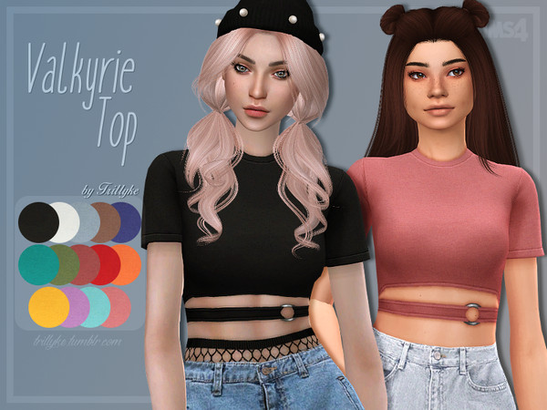 Valkyrie Top by Trillyke at TSR image 563 Sims 4 Updates