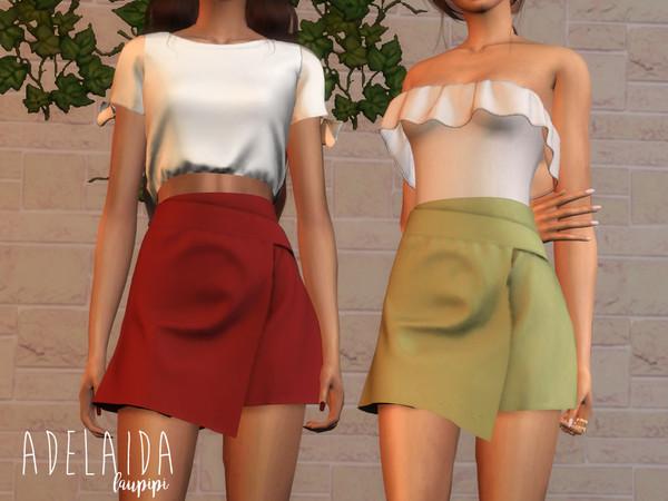 Sims 4 Adelaida skirt by laupipi at TSR