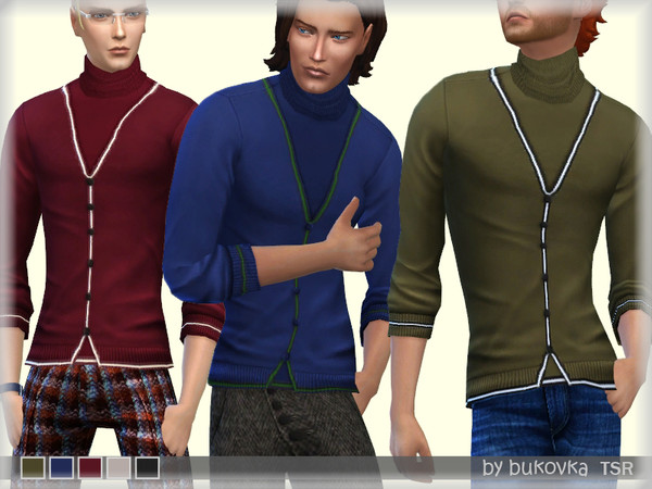 Sims 4 Double Sweater by bukovka at TSR