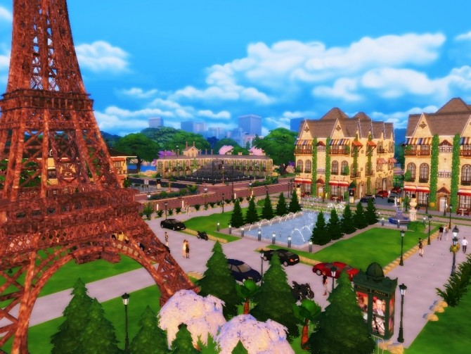 Paris France For Ts4 At Simmer Rebelde 187 Sims 4 Updates
