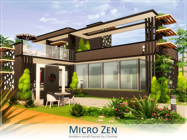 Sims 4 Micro Zen house by Lhonna at TSR