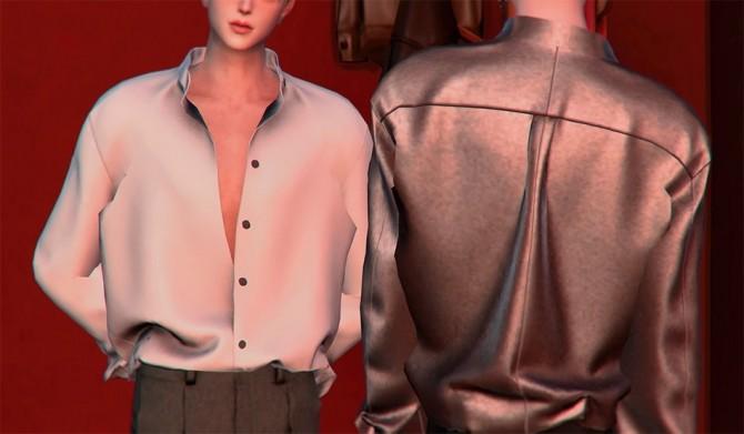 Open Shirt M at SHENDORI SIMS image 601 670x391 Sims 4 Updates