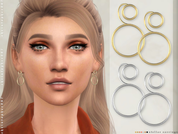 Sims 4 Stellar Earrings by Christopher067 at TSR