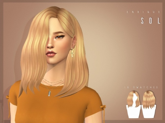 Hairstyles Updates: Sol Hairstyle At Enriques4 » Sims 4 Updates