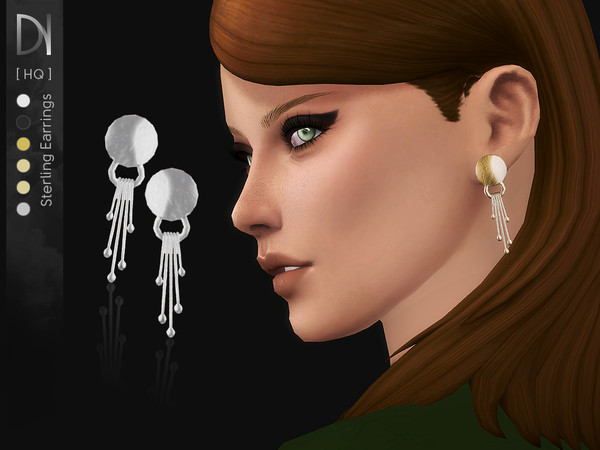 Sims 4 Sterling Earrings by DarkNighTt at TSR