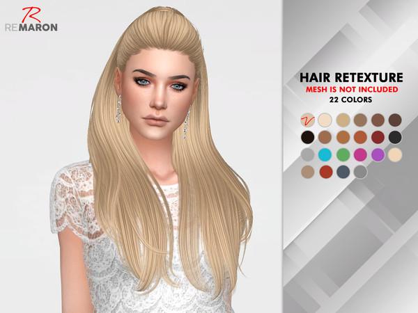 Sims 4 Break Free Hair Retexture by remaron at TSR