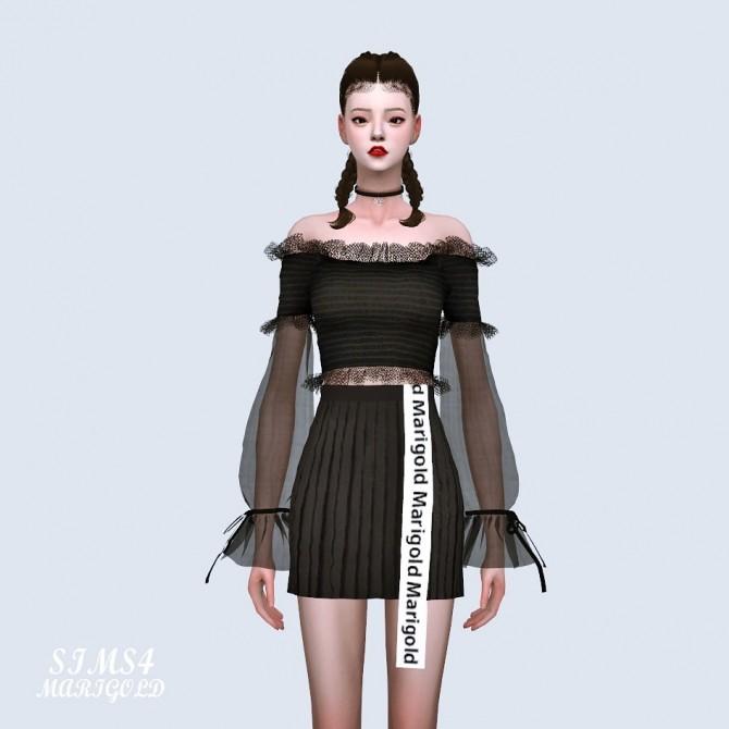 Sha Frill Long Sleeves Off Shoulder Blouse (P) at Marigold image 6110 670x670 Sims 4 Updates