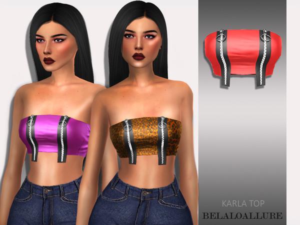 Sims 4 Belaloallure Karla top by belal1997 at TSR