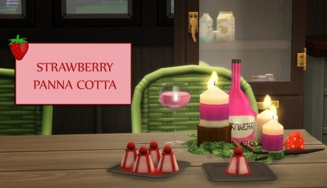 Sims 4 STRAWBERRY PANNA COTTA at Icemunmun