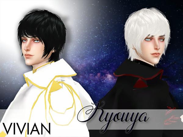 Sims 4 Kyouya Male Hair by VivianDang at TSR
