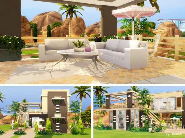 Compact Living Small Modern House By Lhonna At Tsr Sims 4 Updates