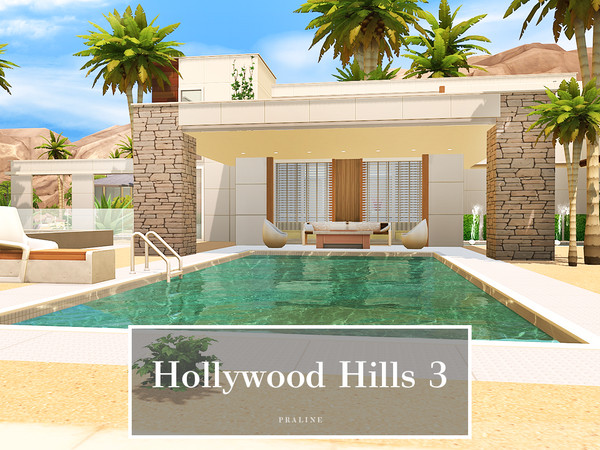 Sims 4 Hollywood Hills 3 house by Pralinesims at TSR
