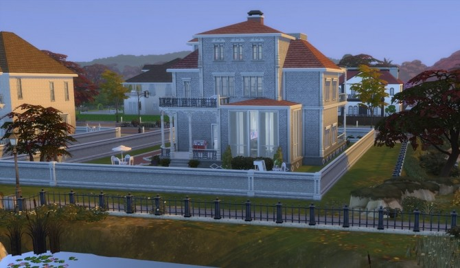 Sims 4 Riverside Mansion Deep South Inspired Build by ericapoe at Mod The Sims