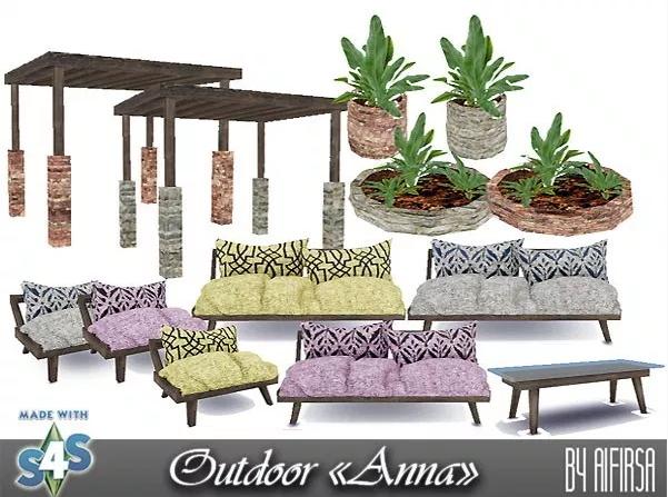 Anna Garden furniture at Aifirsa image 6219 Sims 4 Updates