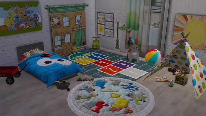 Sesame Street Toddler Room by Ivyrose at Blooming Rosy image 6220 670x377 Sims 4 Updates