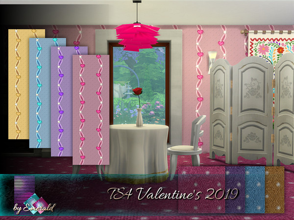 Valentines 2019 walls by emerald at TSR image 630 Sims 4 Updates
