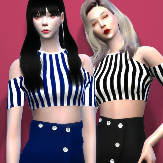 Jisoo Top and Skirt at RYUFFY image 631 670x670 Sims 4 Updates