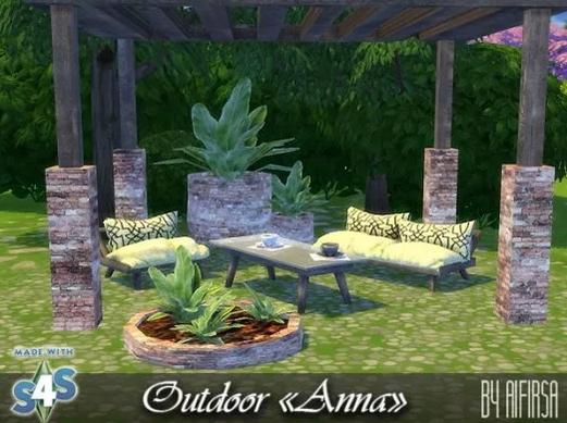 Anna Garden furniture at Aifirsa image 6317 Sims 4 Updates