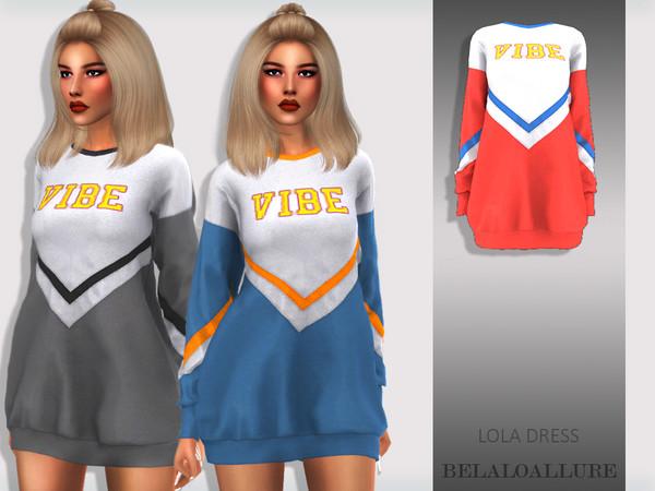 Sims 4 Belaloallure Lola dress by belal1997 at TSR