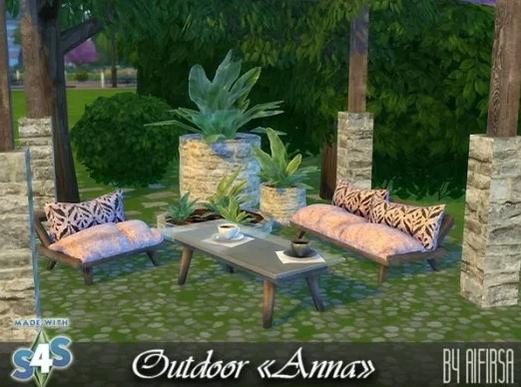 Anna Garden furniture at Aifirsa image 6417 Sims 4 Updates