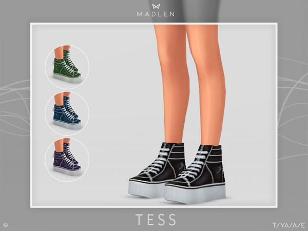 Sims 4 Madlen Tess Shoes by MJ95 at TSR