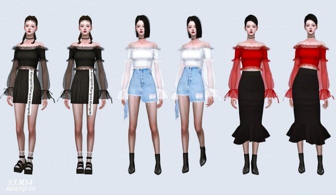 Sha Frill Long Sleeves Off Shoulder Blouse (P) at Marigold image 646 670x390 Sims 4 Updates