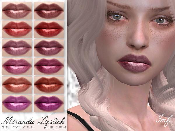 Sims 4 IMF Miranda Lipstick N.154 by IzzieMcFire at TSR
