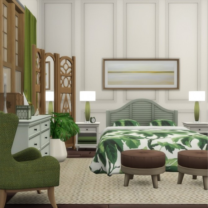 Sims 4 Annabel Bedroom Suite 7 new items at Simsational Designs