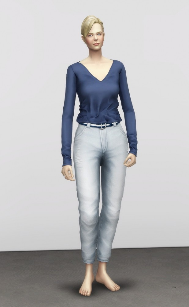 Sims 4 Mom jeans regular fit 18 colors at Rusty Nail