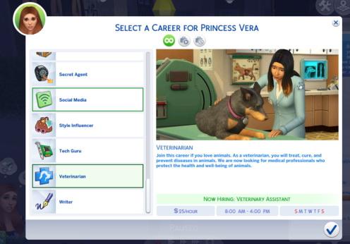 Sims 4 Veterinarian Career at Sims Lover
