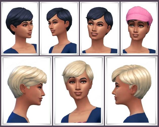 Sims 4 Mid Swept Hair at Birksches Sims Blog