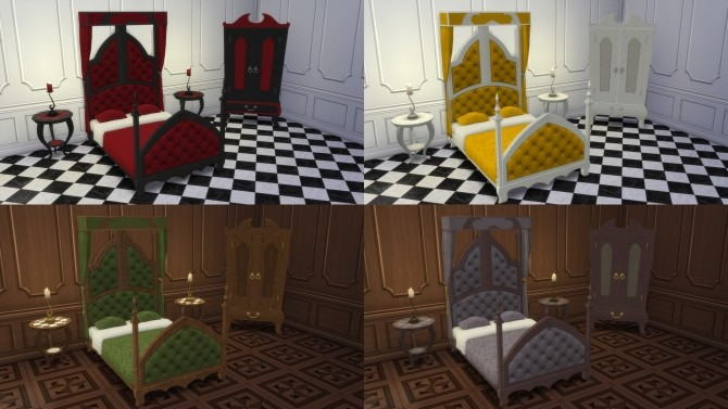 Gothic Bedroom from TS2 by TheJim07 at Mod The Sims image 705 670x377 Sims 4 Updates