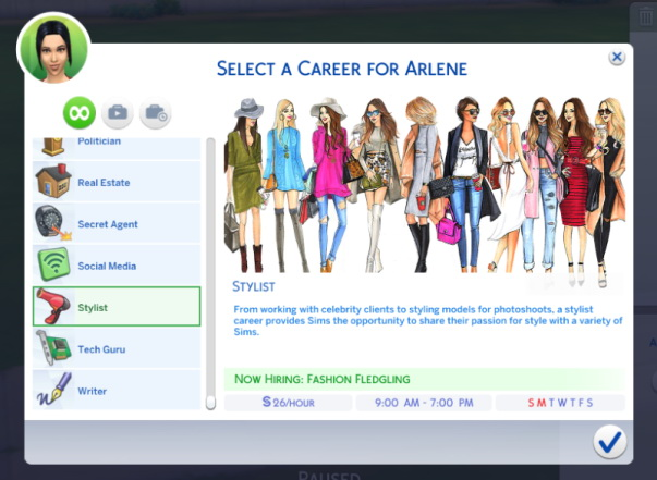 Sims 4 Stylist career (Sims 3 remake) at Sims Lover