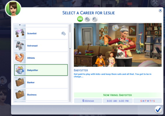 Sims 4 Part Time Babysitter Career at Sims Lover