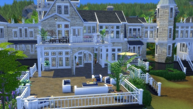 Sims 4 Chateau Bellevue No CC by Chaosking at Mod The Sims