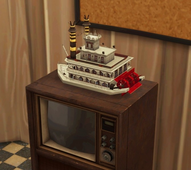 Toska S Old Tv Functional At Effie 187 Sims 4 Updates