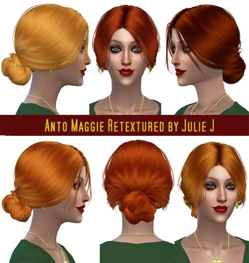 Anto Maggie Hair Retextured at Julietoon – Julie J image 726 Sims 4 Updates