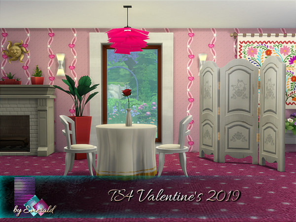 Valentines 2019 walls by emerald at TSR image 730 Sims 4 Updates