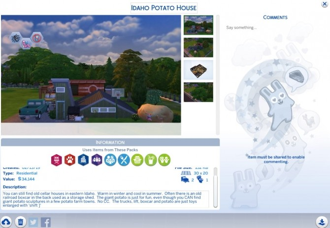 Idaho Potato House by porkypine at Mod The Sims image 7312 670x463 Sims 4 Updates