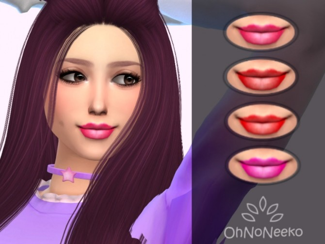 Sims 4 Macey Lipstick at OhNoNeeko